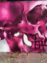 cardiff graffiti murals wales uk skull