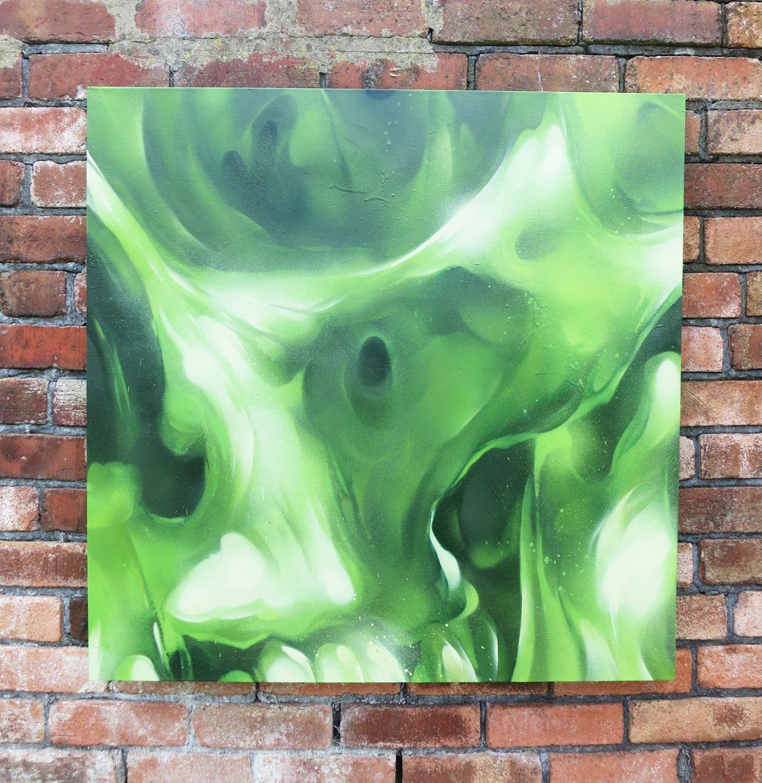Shamrock r mer graffiti artist mural artist cardiff wales uk