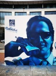 american psycho graffiti art mural rmer cardiff wales UK